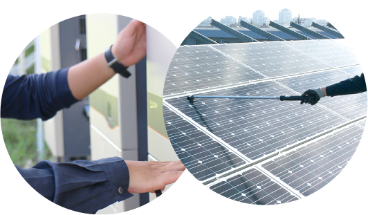 太陽光発電所メンテナンス風景