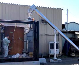 竹燃料バイオマス発電システム設備写真