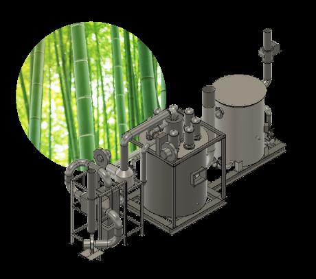 竹燃料バイオマス発電システム設備イメージパース