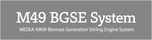 M49 BGSE System MEDEA 49KW Biomass Generation Stirling Engine System
