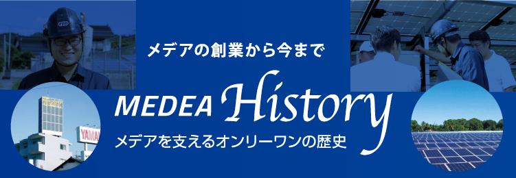 メデアの創業から今まで MEDEA History メデアを支えるオンリーワンの歴史